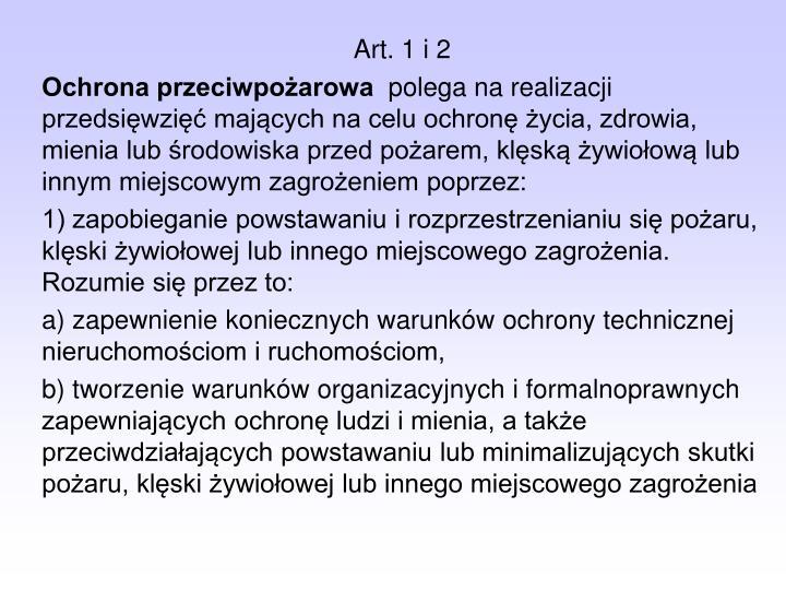 Art. 1 i 2
