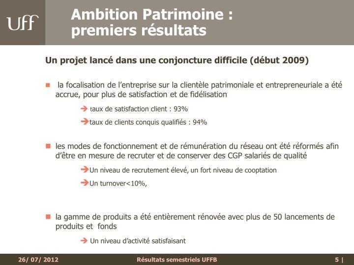 Ambition Patrimoine :