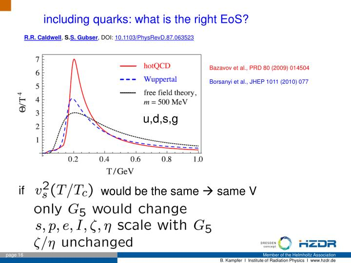 including quarks: what is the right EoS?