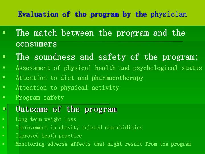 Evaluation of the program by the