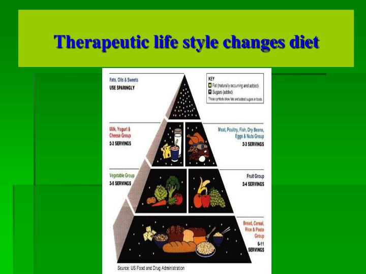 Therapeutic life style changes diet