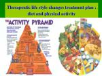 therapeutic life style changes treatment plan diet and physical activity