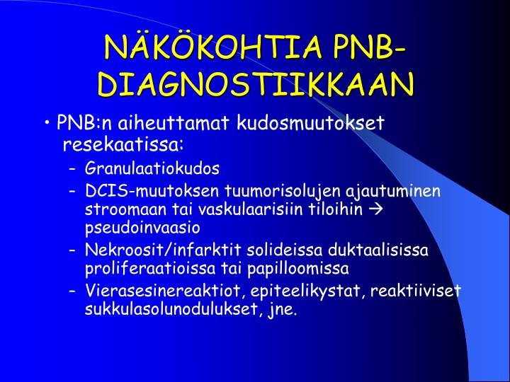 NÄKÖKOHTIA PNB-DIAGNOSTIIKKAAN