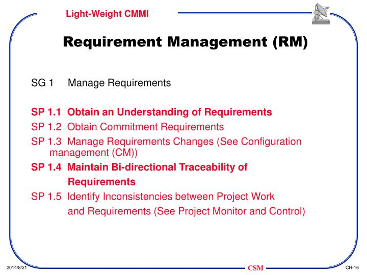Requirement Management (RM)