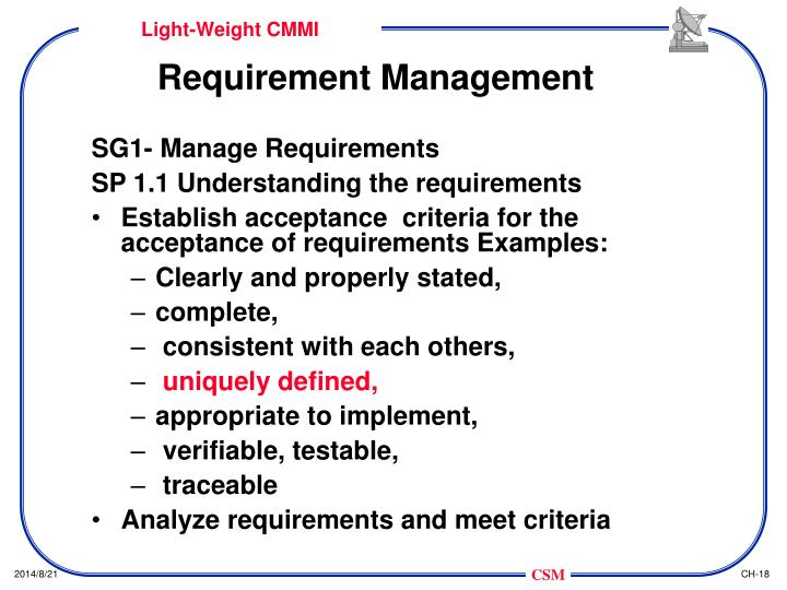 Requirement Management