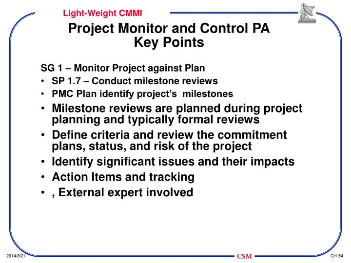 Project Monitor and Control PA