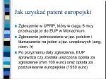 jak uzyska patent europejski