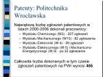 patenty politechnika wroc awska7