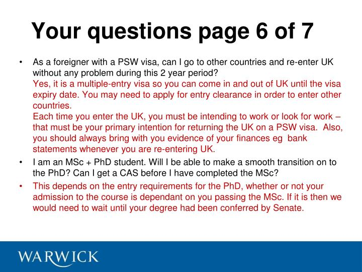 Your questions page 6 of 7