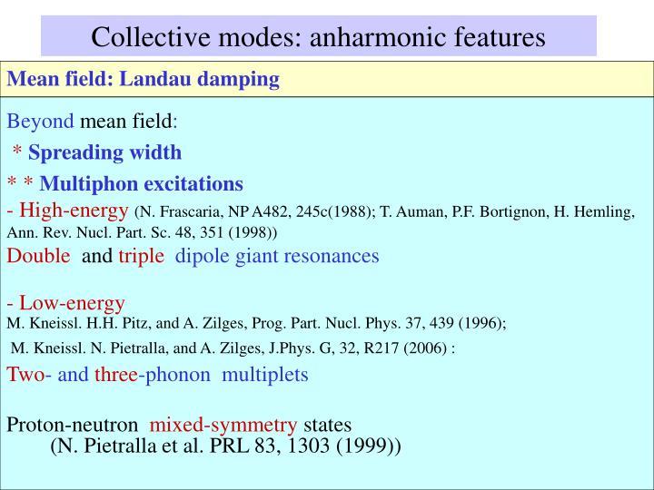 Collective modes: