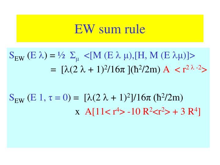 EW sum