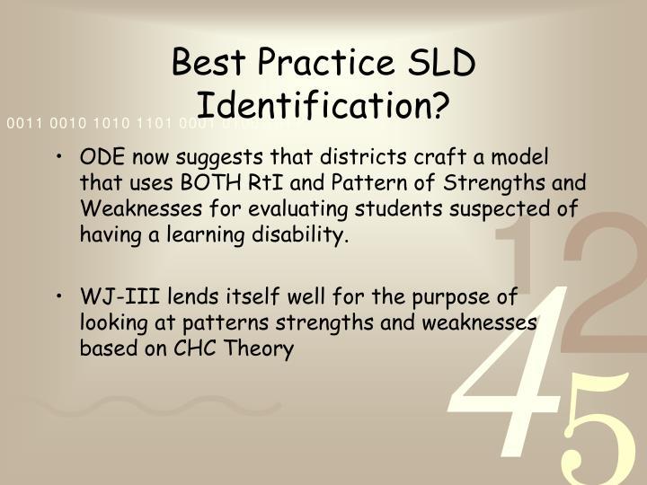Best Practice SLD Identification?