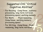 suggested chc critical cognitive abilities