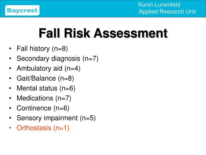 Fall Risk Assessment