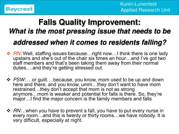 Falls Quality Improvement: