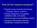 how will we measure progress