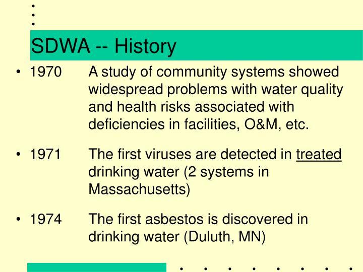 SDWA -- History