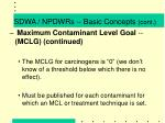 sdwa npdwrs basic concepts cont6