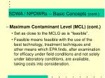 sdwa npdwrs basic concepts cont8