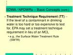 sdwa npdwrs basic concepts cont9