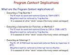 program context implications1