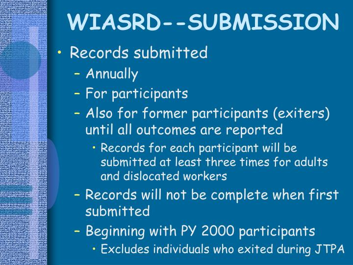 WIASRD--SUBMISSION
