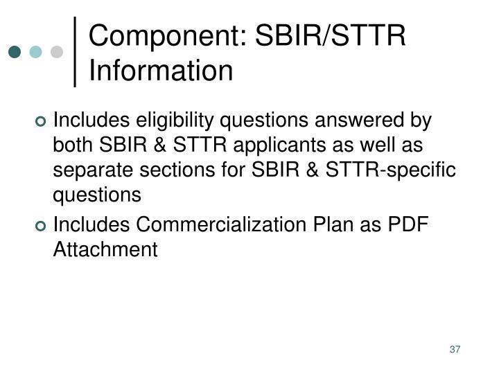 Component: SBIR/STTR Information