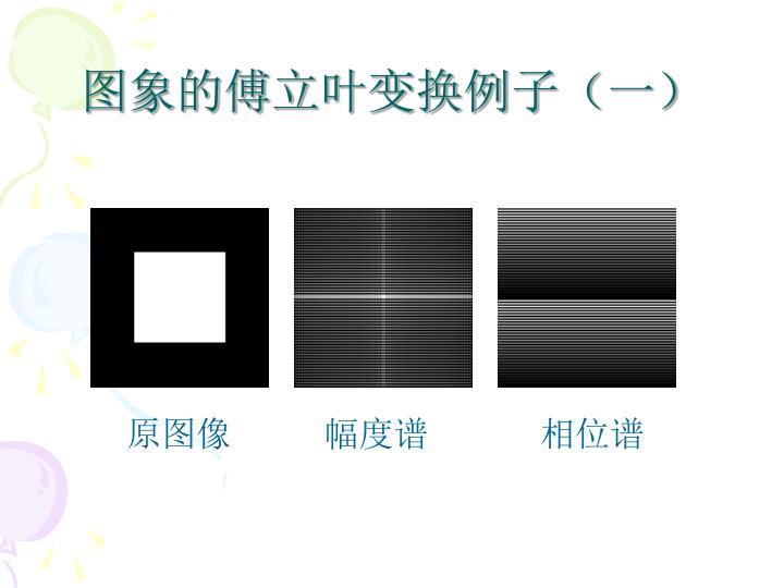 图象的傅立叶变换例子(一)