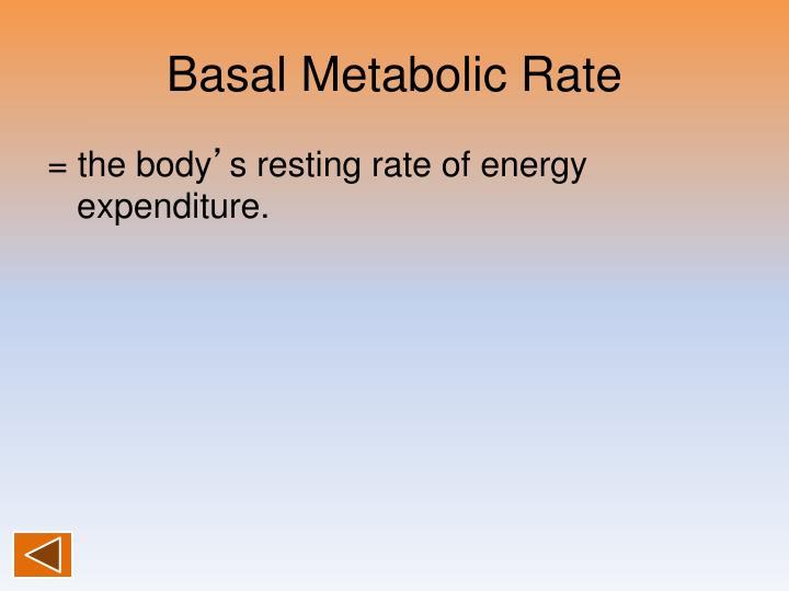Basal Metabolic Rate