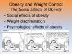 obesity and weight control the social effects of obesity