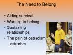 the need to belong1