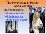 the psychology of hunger eating disorders