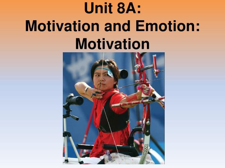 Unit 8A: