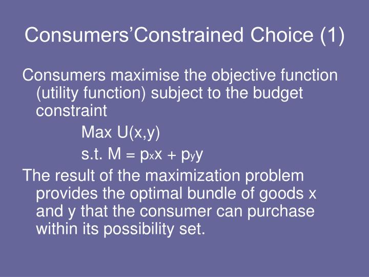 Consumers'Constrained Choice (1)