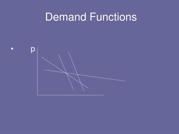 Demand Functions