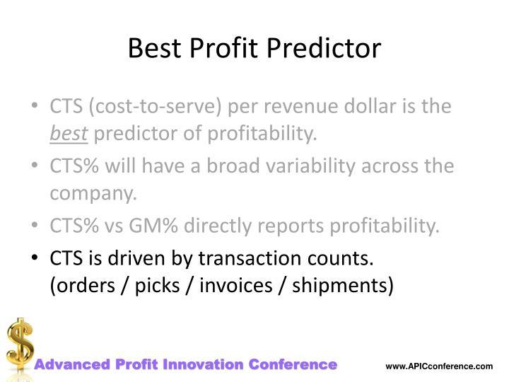Best Profit Predictor