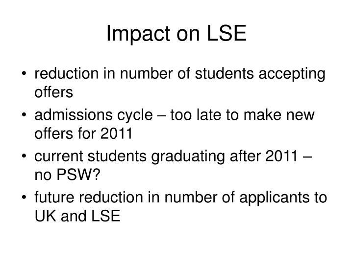 Impact on LSE