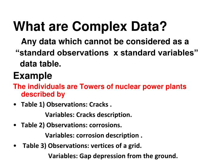 What are Complex Data?
