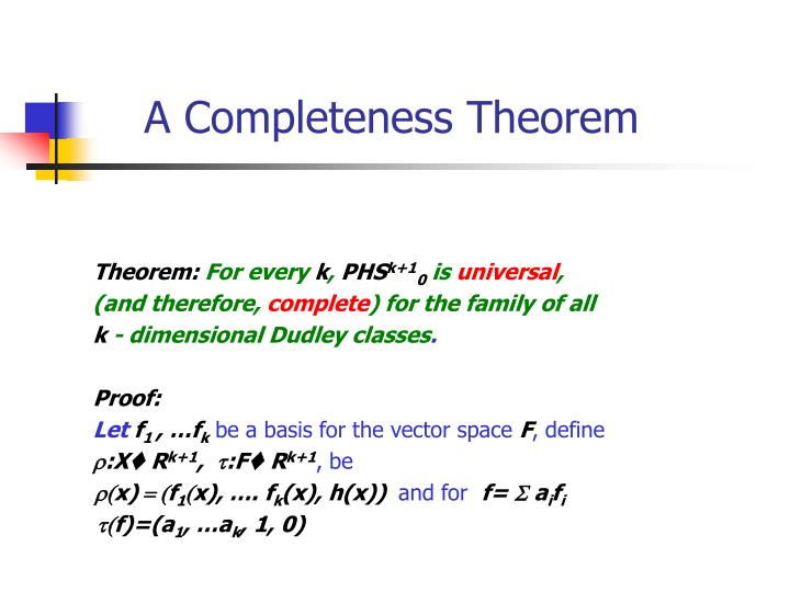 A Completeness Theorem