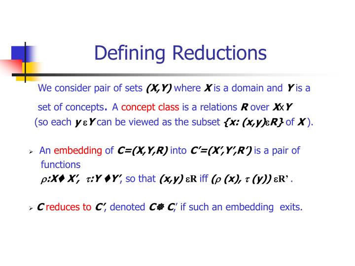 Defining Reductions