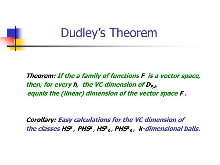 Dudley's Theorem