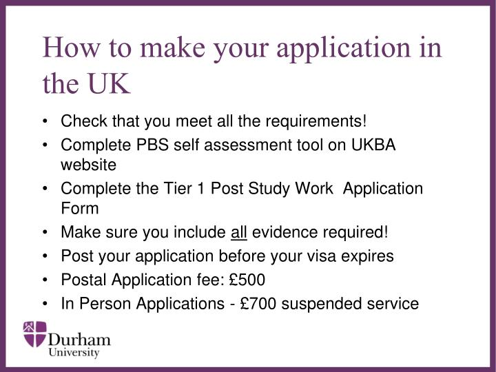 How to make your application in the UK