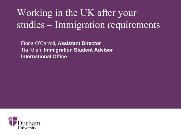 Working in the uk after your studies immigration requirements