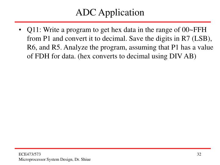 ADC Application