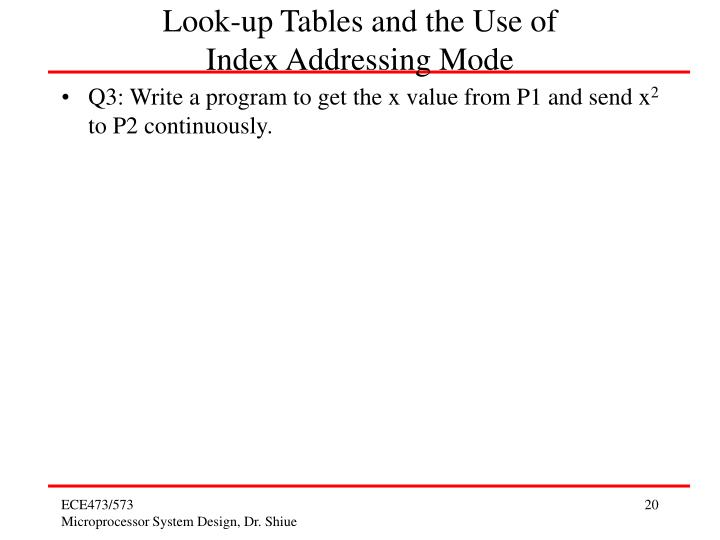 Look-up Tables and the Use of