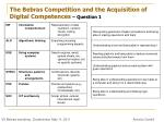 the bebras competition and the acquisition of digital competences question 1