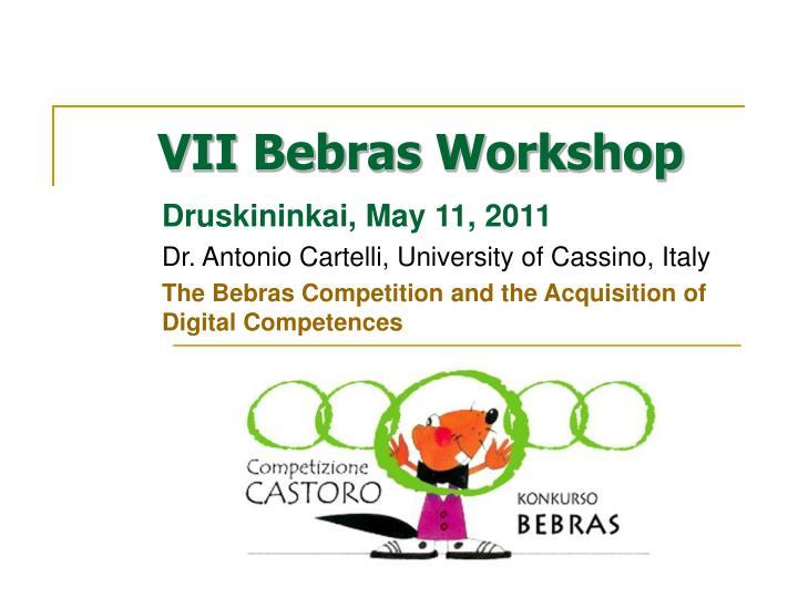 VII Bebras Workshop