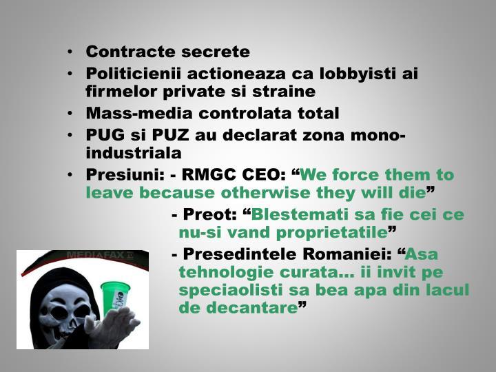Contracte secrete