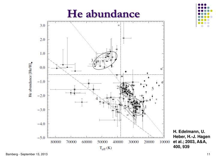 He abundance