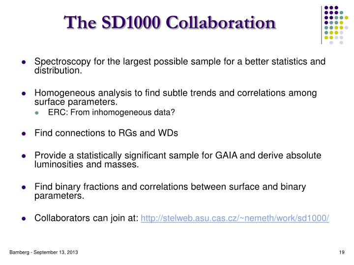 The SD1000 Collaboration